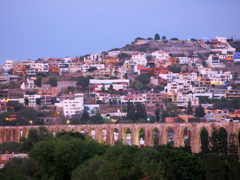 Queretaro Aqueduct royalty free stock photo