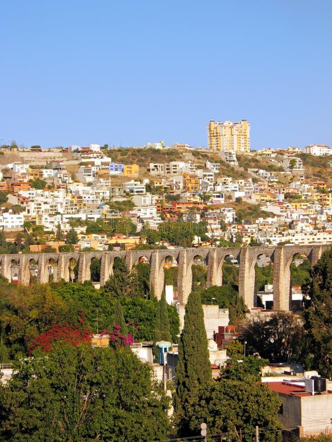 queretaro arcos los Мексики мост-водовода стоковые изображения