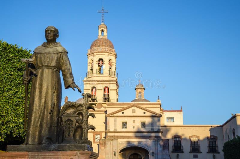 queretaro san francisco церков стоковое изображение rf