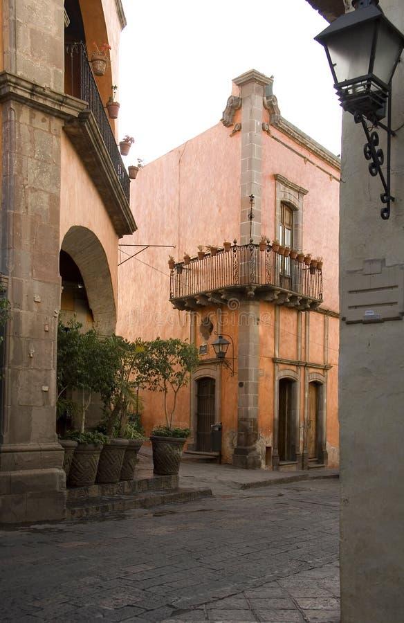 Queretaro van de binnenstad stock fotografie