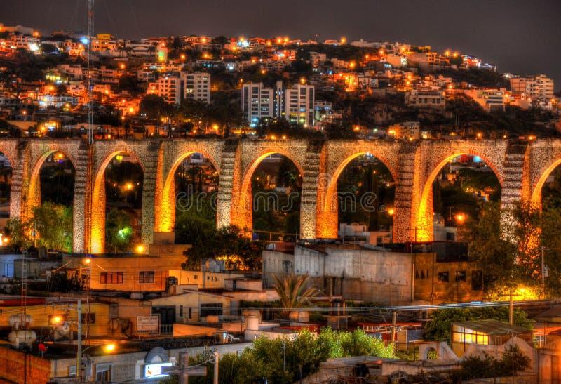 Queretaroaquaduct royalty-vrije stock afbeeldingen