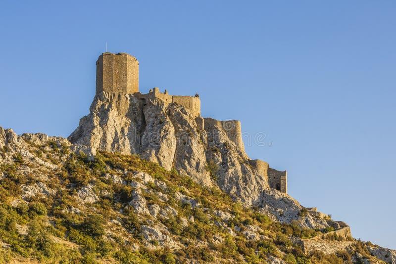 Queribuskasteel, Cucugnan, Frankrijk royalty-vrije stock fotografie