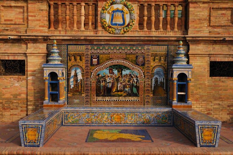 Querneigung-Spanien-Quadrat stockbilder