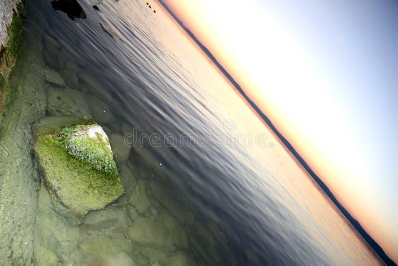 Querneigung von See Balaton lizenzfreie stockbilder