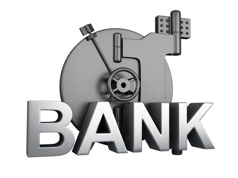 Querneigungwölbung geschlossen Bank-Safe, Sicherheitskonzept lizenzfreie abbildung