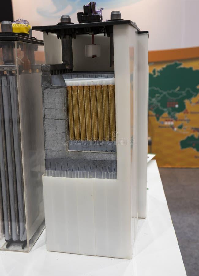 Querschnitt der industriellen Batterie stockbild