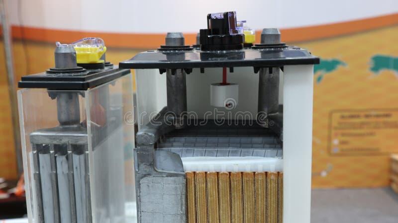 Querschnitt der industriellen Batterie lizenzfreies stockfoto