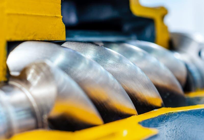 Querschnitt des Luftkompressors Rotor des Luftschraubenkompressors stockbilder