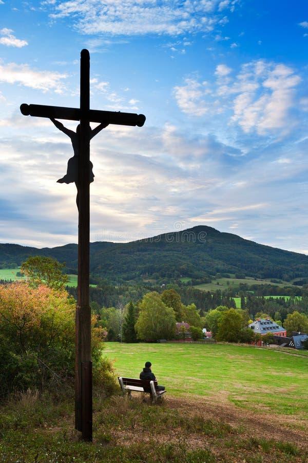 Querspitze - Krizovy-vrch, Rynartice, Jetrichovice-Region, Tscheche die Schweiz, Tschechische Republik lizenzfreie stockfotos