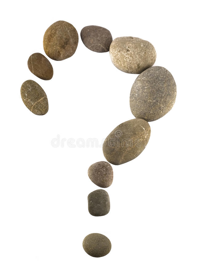 Free Query Sign Made Of Pebbles Stock Image - 11538311