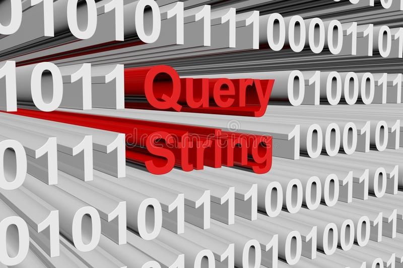 Query string. In the form of binary code, 3D illustration vector illustration