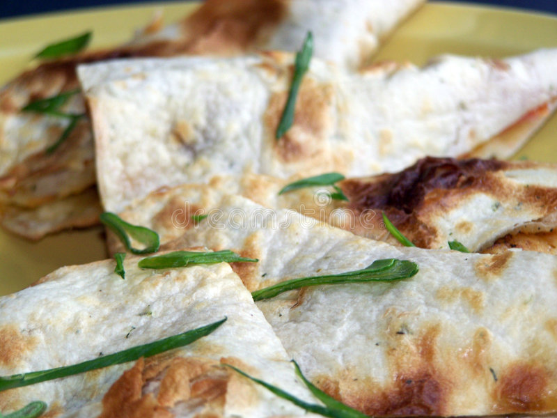 quesadilla κοτόπουλου στοκ εικόνα