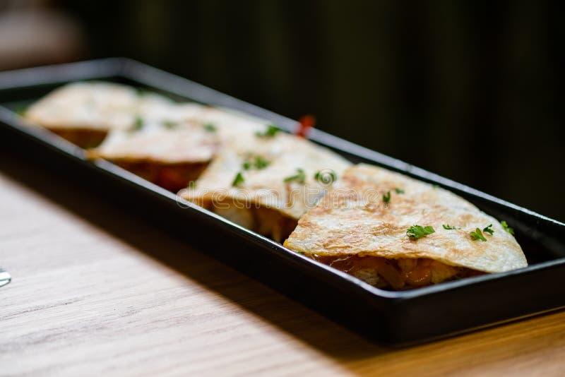 Quesadilla met kip royalty-vrije stock afbeelding