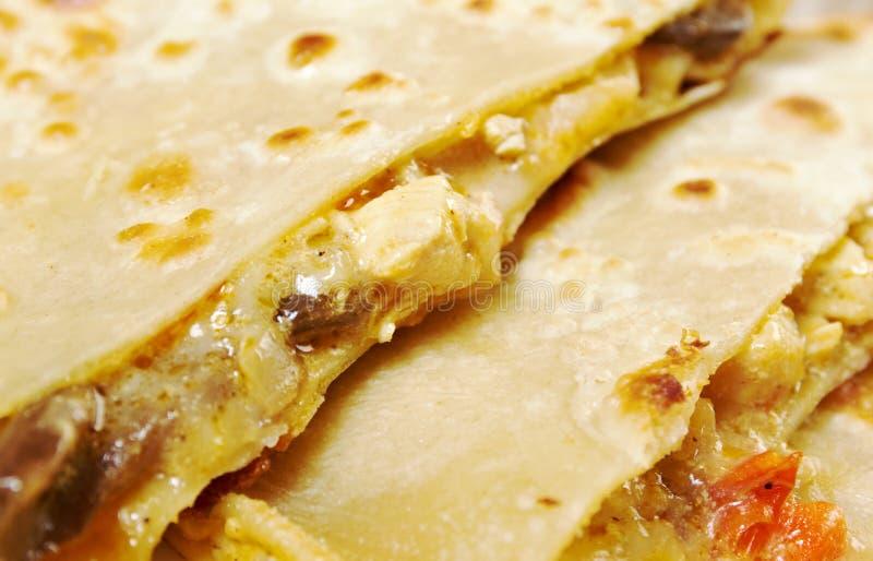 Quesadilla mit Hühnerfleisch, stockbilder