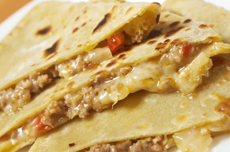 Quesadilla mit Hühnerfleisch, lizenzfreies stockfoto