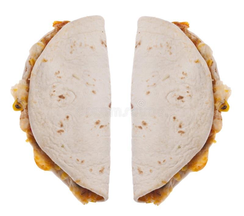 Quesadilla trennte auf Weiß lizenzfreie stockfotos