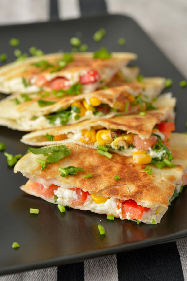 Quesadilla végétarien photographie stock