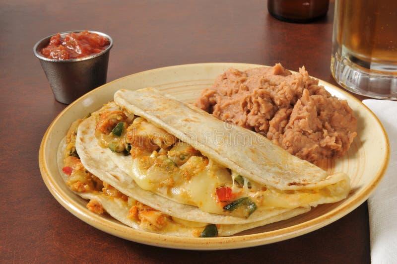 Quesadillas цыпленка стоковое изображение