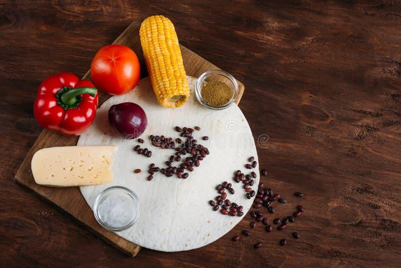 Quesadillas mexicains végétariens avec du fromage image stock