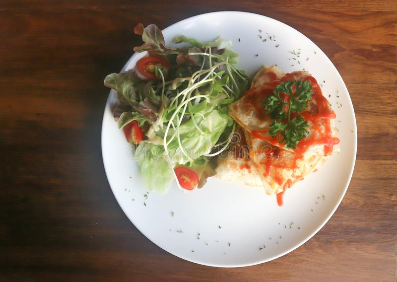 Quesadillas or Tortilla with egg royalty free stock photos