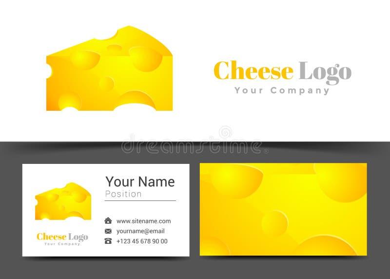 Queso amarillo Corporate Logo y plantilla de la muestra de la tarjeta de visita stock de ilustración