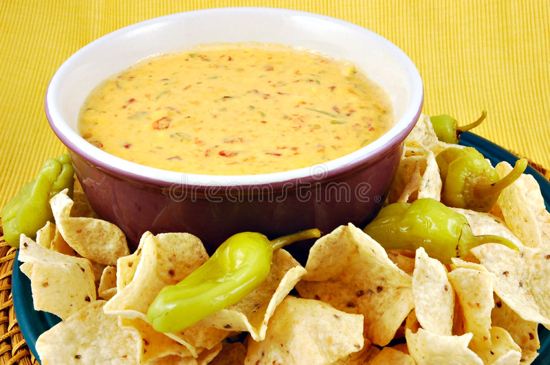 Queso & Chips royalty free stock photo