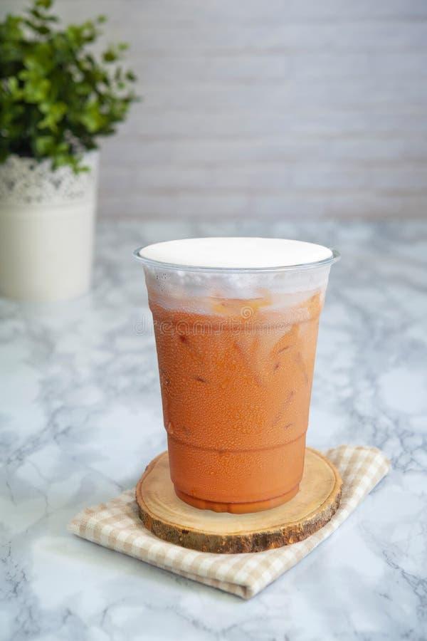 Queso cremoso tailandés del té de la leche imágenes de archivo libres de regalías