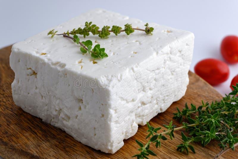 Queso de queso Feta griego imagen de archivo