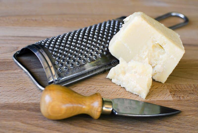 Queso de parmesano italiano fotografía de archivo