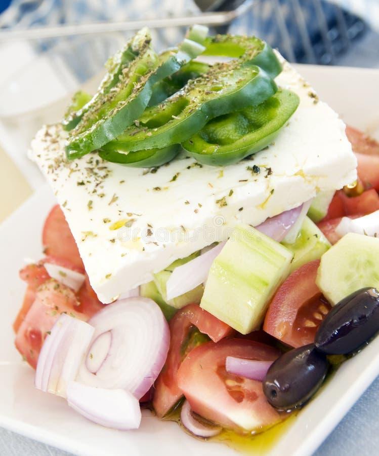 Queso de queso Feta griego auténtico de la ensalada fotos de archivo libres de regalías