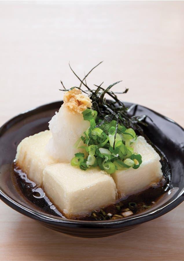 Queso de soja de Agedashi foto de archivo libre de regalías