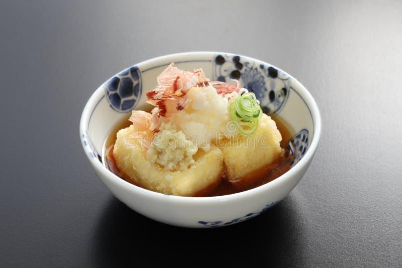 Queso de soja de Agedashi, comida japonesa fotos de archivo