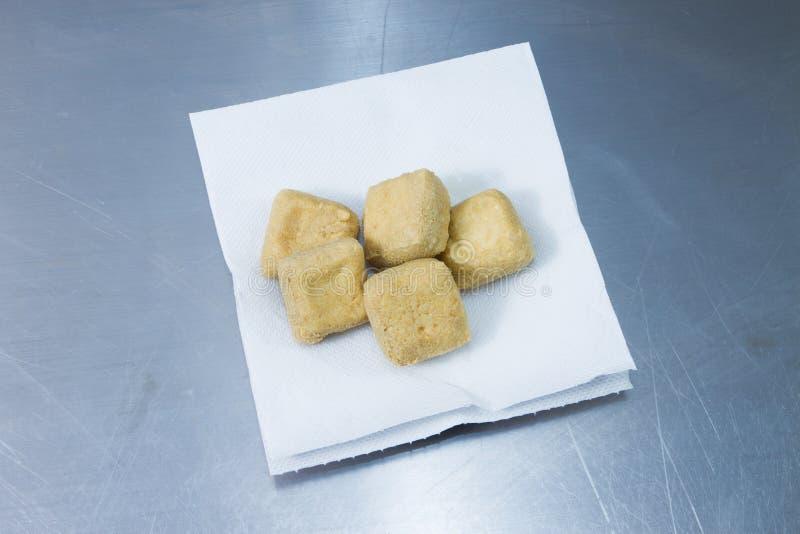 Queso de soja frito imágenes de archivo libres de regalías