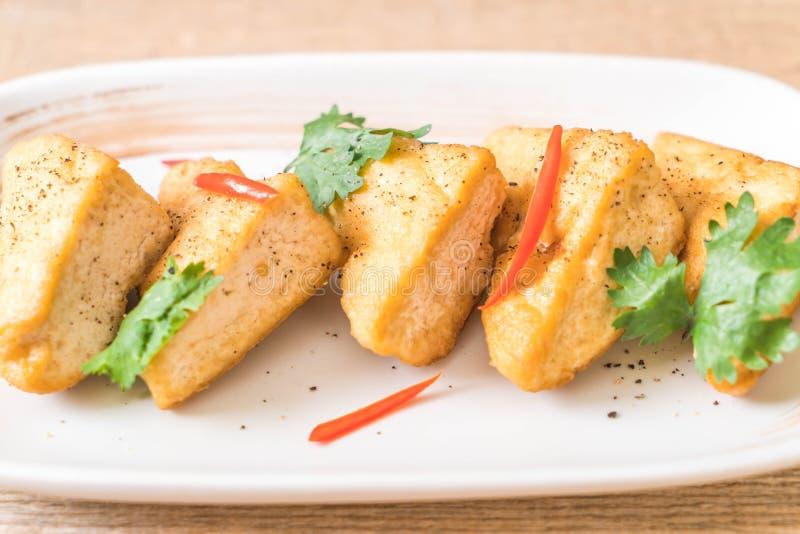 queso de soja frito - comida del vegano imagen de archivo libre de regalías