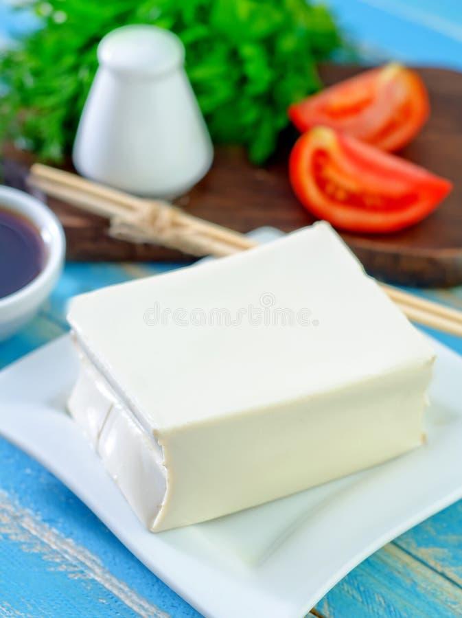 Queso del queso de soja imagenes de archivo