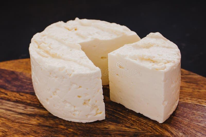 Queso Panela乳酪、墨西哥美食、白色和新鲜的干酪在墨西哥 免版税库存照片