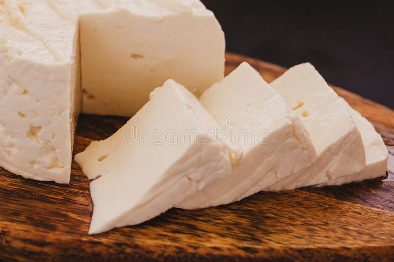 Queso Panela cheese, mexican food, white and fresh cheese in mexico. Queso mexicano queso fresco royalty free stock images