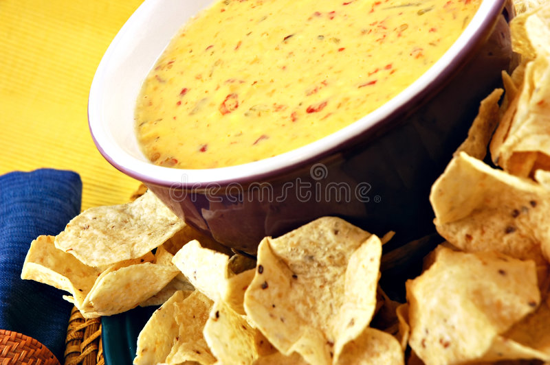 Queso u. Chips stockbilder