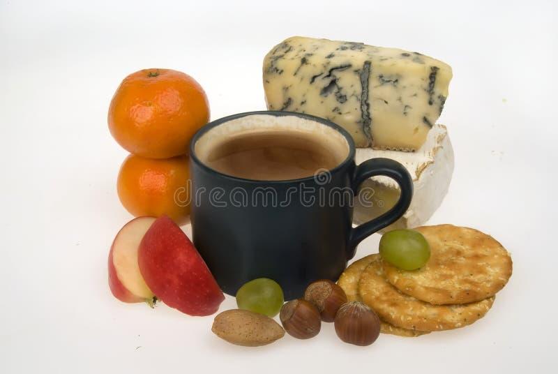 Queso y fruta del café fotos de archivo libres de regalías