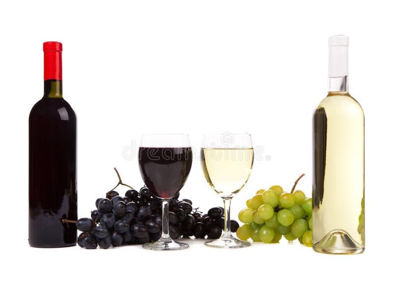 Queso y uvas del vino fotografía de archivo