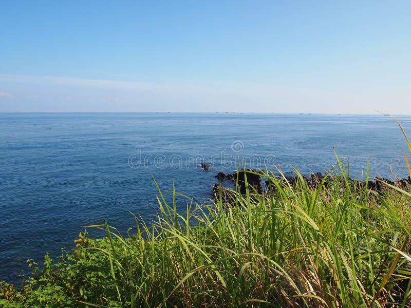 Questa foto è stata presa alla spiaggia nell'isola di Jeju, Corea del Sud fotografie stock libere da diritti