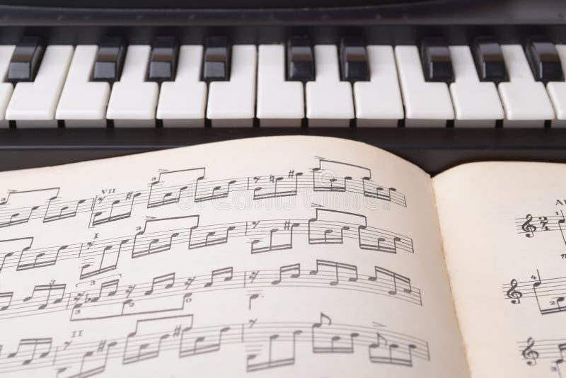 Queste sono chiavi in bianco e nero di uno strumento musicale del ` s dei bambini - wi di un sintetizzatore fotografia stock