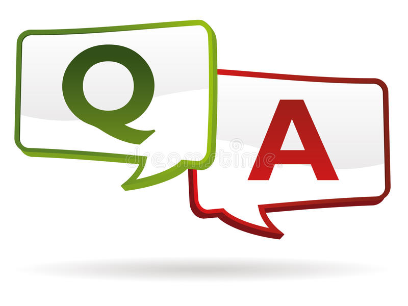 Question answer stock illustration
