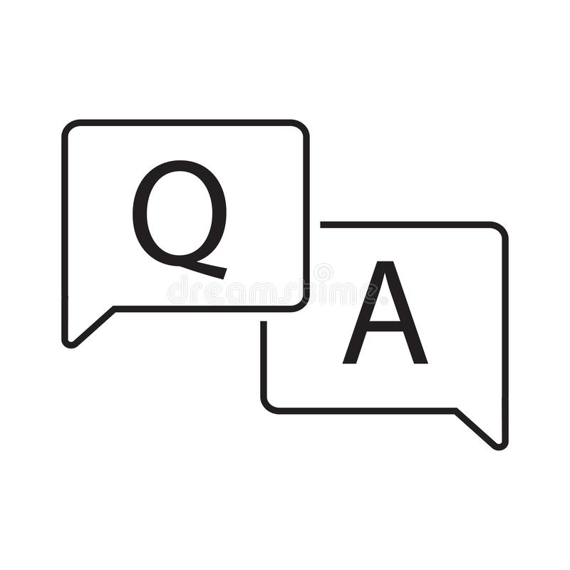 question and answer in bubble icon vector illustration design royalty free illustration