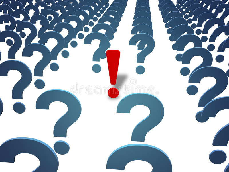 Download Question And Answer (with Clipping Path) Stock Illustration - Image: 1824533