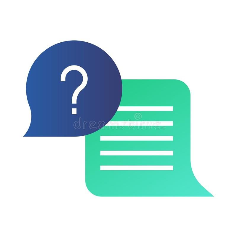 Question And Answer Gradient Illustration Stock Vector ...