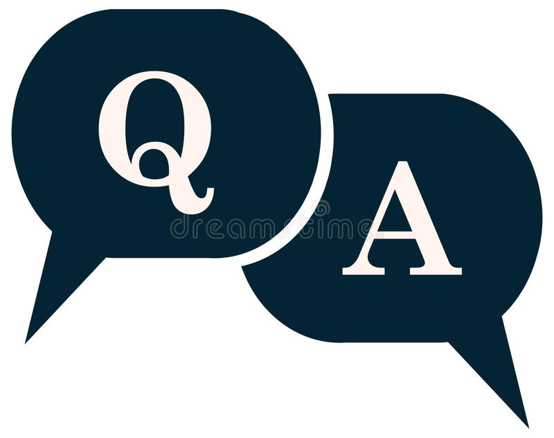Question and Answer Q A Speech Balloon Icon. vector illustration