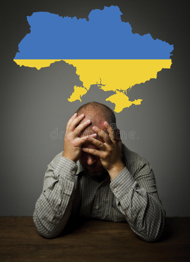 Question au sujet d'avenir de l'Ukraine. photos stock
