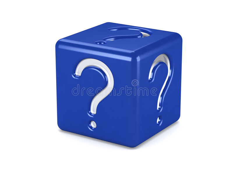 Question box stock illustration