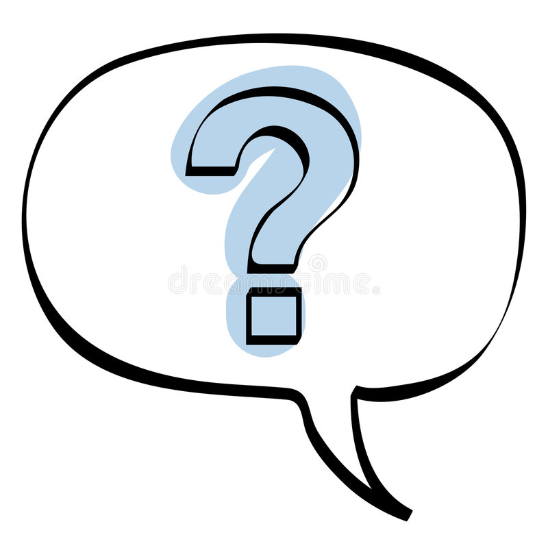 Question bubble icon vector royalty free stock photo